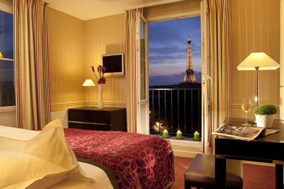 Best hotels for panoramic views in paris france paris for Hotel original france