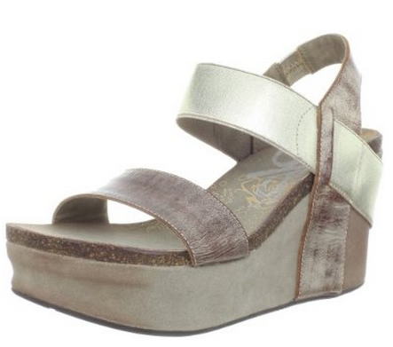 For a high wedge, OTBT's are very stable. I've had no problems walking on uneven pavement in my OTBT sandals (seen below